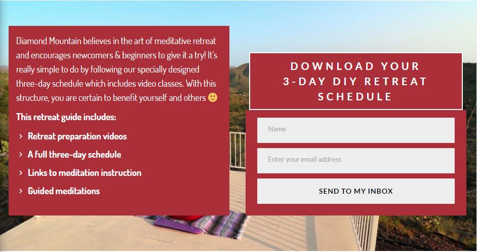3-Day DIY Retreat Schedule